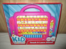 Touch and Learn Letters Phonics Bilingual Learning Pad Spanish English  PINK