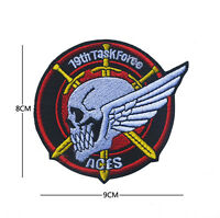 19th task force aces ARMY MILITARY MORALE EMBROIDERED HOOK PATCH
