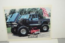 1982 Bigfoot Big Foot 4 X 4 Monster Truck 8 X 10 Color Photo Midwest Four Wheel