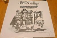 Department 56 The Original Snow Village Lighted Saturday Morning Downtown 54902