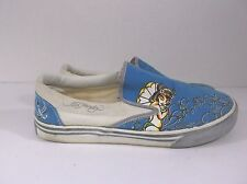 Ed Hardy Slip On Sneakers Blue Yellow Geisha Swallow sz 6 Mens 8 Womens
