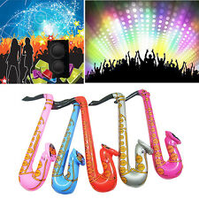 70cm Inflatable Colorful Blow up Rock n Roll Saxophone Disco Fun Party Music Toy