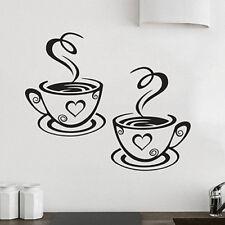 LC_ CUCINA CASA RISTORANTE CAFFè Tè Adesivo da parete TAZZE DI DECORI UT