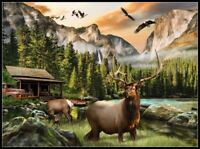 Elk Country - Chart Counted Cross Stitch Pattern Needlework Xstitch craft DIY
