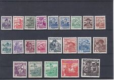 1934/36 Österreichische Volkstrachten Postfrisch ** MNH 567 - 587 ANK € 330,--