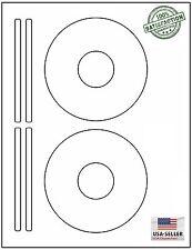100 CD/ DVD Laser and Ink Jet Labels Templates 5931, 8931, 8691,8692. 50 Sheets!