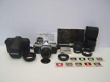 Huge Olympus OM-1 35mm SLR Camera Pack, inc 50mm F-Zuiko lens, Case + Acc