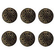 "New listing Set of 6 Western Horse Saddle Tack Leather Craft 1-1/8"" Celtic Conchos screwback"