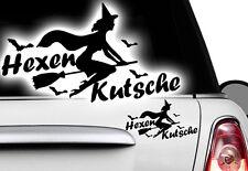 1x Hexen 18x10cm Sterne Aufkleber Wandtattoo Hexenkutsche Gothic Halloween Witch
