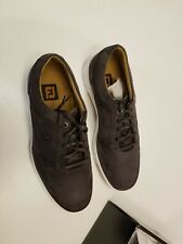 FootJoy FJ Golf Shoes Casual 54513 Gray Suede Spikeless Men's Hybrid Size 10.5 M