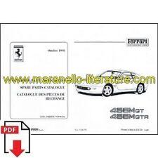 1998 Ferrari 456M GT + GTA spare parts catalogue 1426/98 PDF (it/fr/uk)