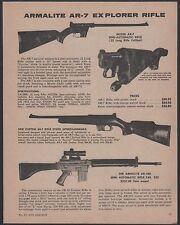 1971 ARMALITE AR-7 Explorer, Custom and AR-180 Rifle AD