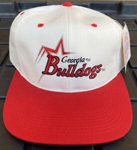 NWT Vintage 90s Georgia Bulldogs Signatures SnapBack Hat Cap