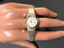 Vintage Bulova Armbanduhr für Damen Edelstahl Quarz Farbe silber