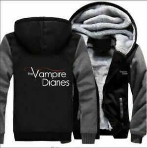 Hot The Vampire Diaries Hoodie Thicken warm Jacket Winter hooded Coat sweatshi @