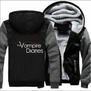 Hot The Vampire Diaries Hoodie Thicken warm Jacket Winter hooded Coat sweatshi @
