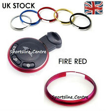 Fire RED Key Ring Metal Fob Trim Surround for BMW Mini JCW ONE COOPER S Works fr