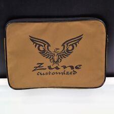 Zune Eagle Customized Laptop Sleeve Slip Case Brown Zip Top 14 Inch