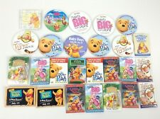 Winnie the Pooh Tigger Piglet Promotion Pins Buttons from Walmart Lot of 26