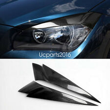 Head Light Lamp Eyebrow Eyelid Carbon Fiber Trim 2pcs For BMW X1 E84 2010-2015