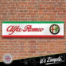 Alfa Romeo Logo Banner Garage Workshop Sign Printed PVC Trackside Display