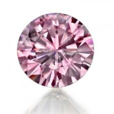 Loose Lab Created Round Pink Diamond 6mm Fast & Free Delivery AAAAA