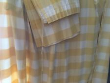Laura Ashley yellow check curtains 132 x 66 inches, unlined.