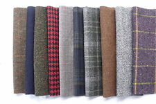 100% pure laine tweed restes chutes patchwork rag rug crafts 10 grands morceaux