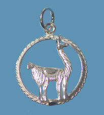 New Llama 925 Sterling Silver Jewelry charm Labyrinth cria Lama glama animal