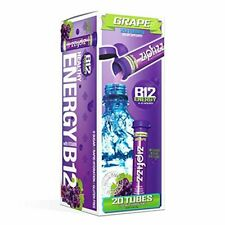 Zipfizz Healthy Energy Drink Mix, Hydration with B12 and Multi Vitamins, Grape,
