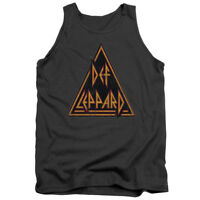 Def Leppard Rock Band DISTRESSED LOGO Licensed Adult Tank Top All Sizes