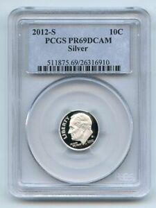 2012 S 10C Silver Roosevelt Dime PCGS PR69DCAM