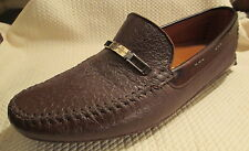 MORESCHI Italian Buttery Soft Brown Leather Driving Moccasins Loafers 9.5 - NEW!