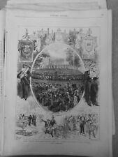 1875 Ui Festival Orpheonique Garten Tuileries Profit Flut Posaune Musik