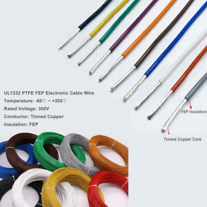 UL14-28AWG FEP Insulation&Tinned Copped Electronic Cable  Hook Up Wire -Colorful