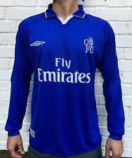 FC CHELSEA 2001/2002/2003 HOME FOOTBALL JERSEY SOCCER SHIRT VINTAGE LONG SLEEVE