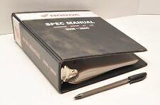 Nos Genuine Honda Motorcycle / Atv Service Specifications Spec Manual 2008-2009
