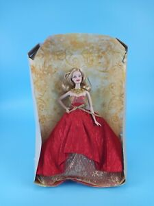 Mattel 2014 Holiday Model Muse Barbie Doll Red / Gold New with Half Package