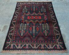 Y133 Vintage Afghan Medallion Baluchi Rug/ Handmade Tribal Decor rug 4'2 x 6'4