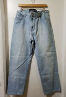Guess Jeans Mens Light Washed Denim Size 38x32 Zipup Cotton Pockets Distressed