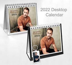 Alexander Skarsgard 2022 Office Desktop Holiday Calendar + Key ring