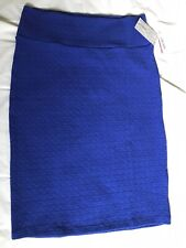 LuLaRoe Cassie Skirt Blue Large L New With Tags Free Shipping
