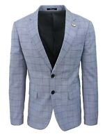 Giacca blazer uomo sartoriale grigio blu quadri Principe di Galles primaverile