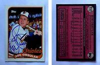 Joe Orsulak Signed 1989 Topps #727 Card Baltimore Orioles Auto Autograph