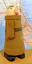 """Ramp Walker """"Uncle Fester"""" Carved Wood w Clothes Folk Art Vintage WORKS"""