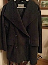 EXCELLENT CONDITION Max Mara Italy Charcoal 100% Wool Oversized Swing Coat - 4