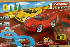 Carrera First Ferrari cars race set NEW
