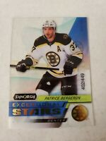 Patrice Bergeron 2020-21 Upper Deck Synergy EXCEPTIONAL STARS 402/449 BRUINS