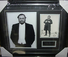 Luciano Pavarotti  Signed Montage  AFTAL