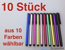 10x Touchpen Eingabestift Alu Stylus Smartphone Tablet iPhone iPad Samsung HTC